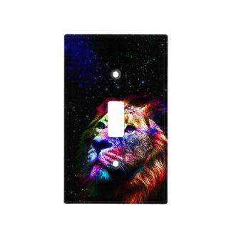 Space lion _caseSpace lion - colorful lion - lion Light Switch Cover