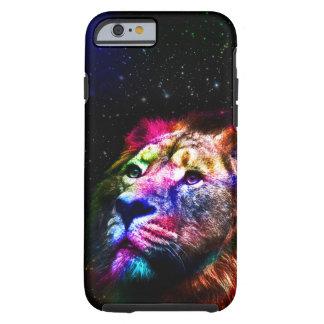 Space lion _caseSpace lion - colorful lion - lion Tough iPhone 6 Case