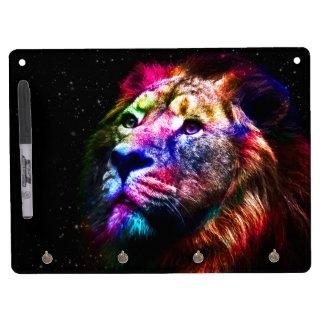 Space lion - colorful lion - lion art - big cats Dry-Erase boards