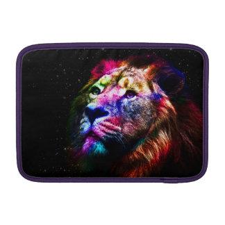 Space lion - colorful lion - lion art - big cats MacBook sleeve