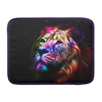 Space lion - colorful lion - lion art - big cats MacBook sleeves