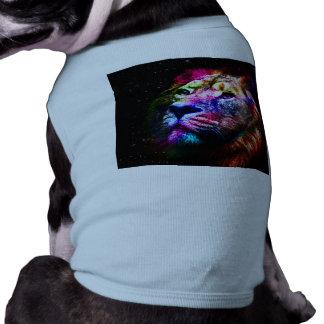 Space lion - colorful lion - lion art - big cats pet clothes