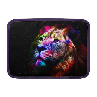 Space lion - colorful lion - lion art - big cats sleeves for MacBook air