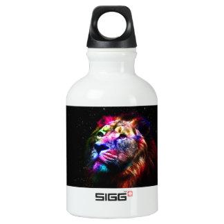 Space lion - colorful lion - lion art - big cats water bottle