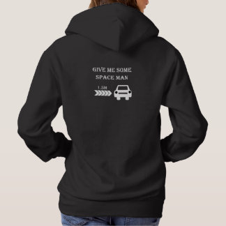 """Space man"" cycling hoodies for her"