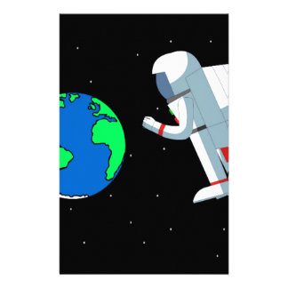 Space Man Stationery