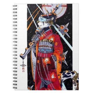 Space Marine Kimono Jaguar Notebook! Spiral Note Books