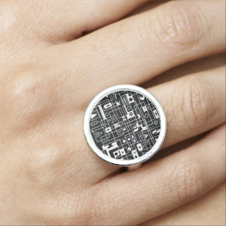 space Maya Photo Ring