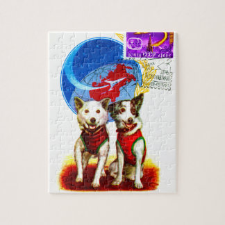 SPACE MISSION DOG ASTRONAUTS JIGSAW PUZZLE