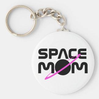 SPACE MOM BASIC ROUND BUTTON KEYCHAIN