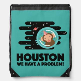 Space Monkey Drawstring Bag