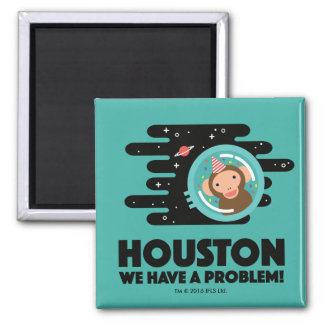 Space Monkey Square Magnet