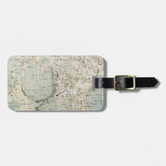 SPACE: MOON MAP, 1972 BAG TAG