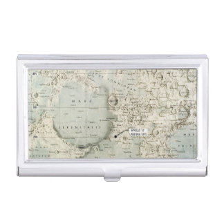 SPACE: MOON MAP, 1972 CASE FOR BUSINESS CARDS