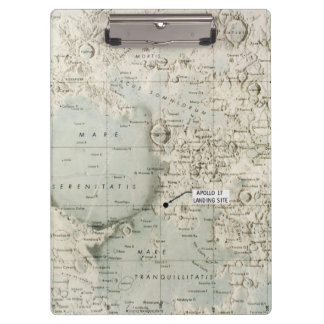 SPACE: MOON MAP, 1972 CLIPBOARDS