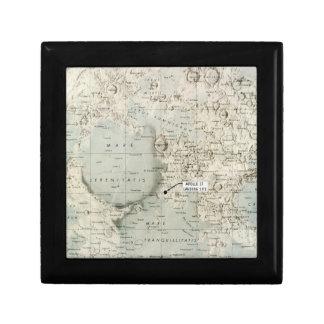 SPACE: MOON MAP, 1972 KEEPSAKE BOXES