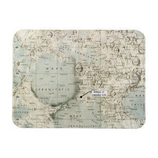 SPACE: MOON MAP, 1972 RECTANGULAR PHOTO MAGNET