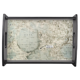 SPACE: MOON MAP, 1972 SERVICE TRAYS