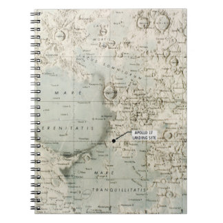 SPACE: MOON MAP, 1972 SPIRAL NOTEBOOKS