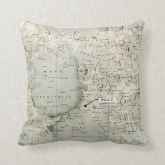 SPACE: MOON MAP, 1972 THROW PILLOW