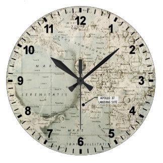 SPACE: MOON MAP, 1972 WALL CLOCKS