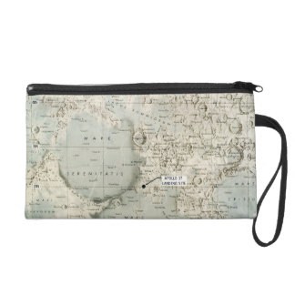 SPACE: MOON MAP, 1972 WRISTLET PURSE