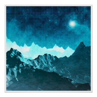 Space Mountains Poster