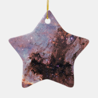 Space nebula ceramic star ornament