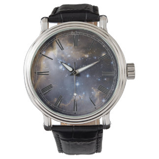 Space Nebula Galaxy Roman Numeral Wrist Watch
