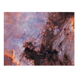Space nebula postcard