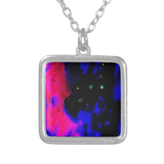 Space Nebula Silver Plated Necklace