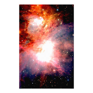 Space Nebula Stationery Paper