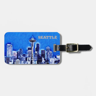 Space Needle in Seattle, Washington State Luggage Tag