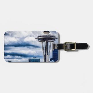 space needle seattle washington luggage tag