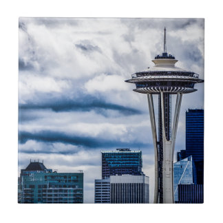 space needle seattle washington tile