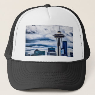 space needle seattle washington trucker hat