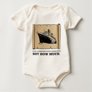 space on a boat yeah baby bodysuit