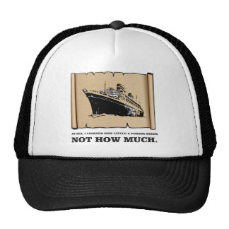 space on a boat yeah trucker hat
