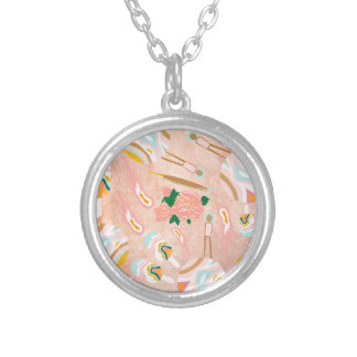 Space Opera: Ice-cream Planet Silver Plated Necklace