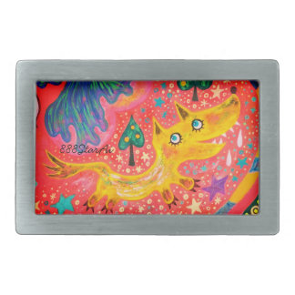 Space parade 1 section of pink elephant (fox) rectangular belt buckle