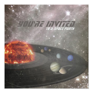 Space Party Birthday Invitation