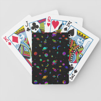 Space pattern bicycle playing cards