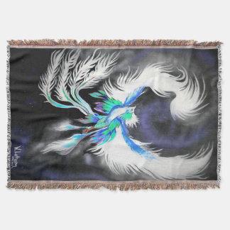 Space Phoenix Throw Blanket