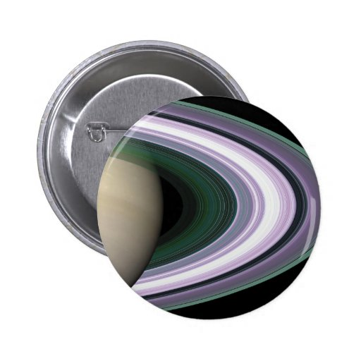 Space Photo Saturn's Rings Button