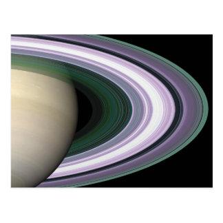 Space Photo Saturn's Rings Postcard