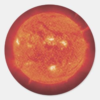 Space Photo Sun Classic Round Sticker