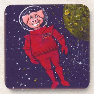 Space Pig Drink Coaster