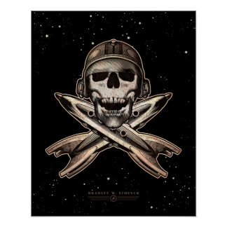 """Space Pirate (rockets) poster (16x20"""")"""