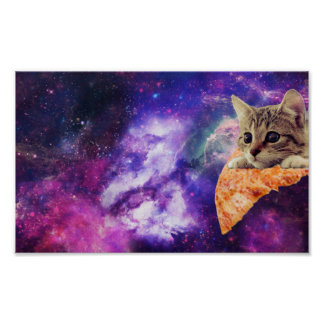 Space Pizza Cat poster