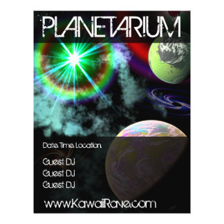 Space Planetarium Custom Rave Flyers